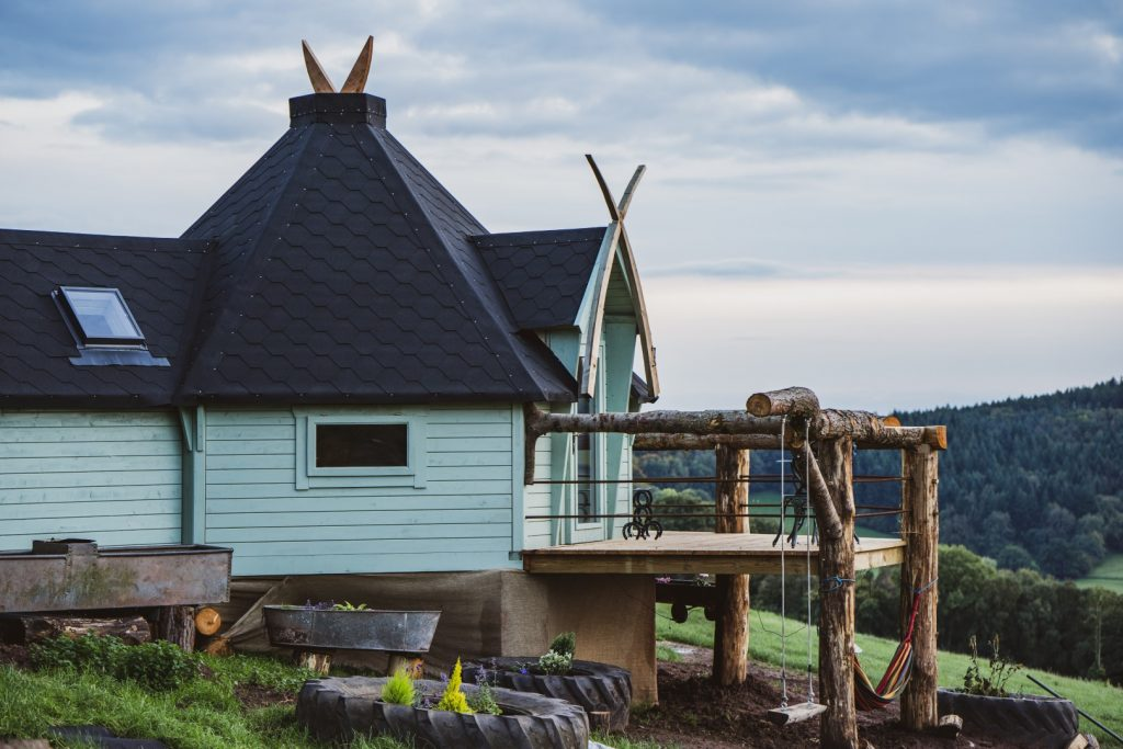 Luxury glamping cabins in Herefordshire