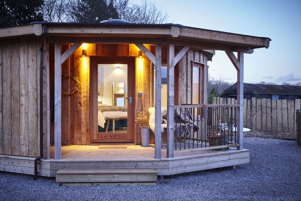 Glamping in a roundhouse