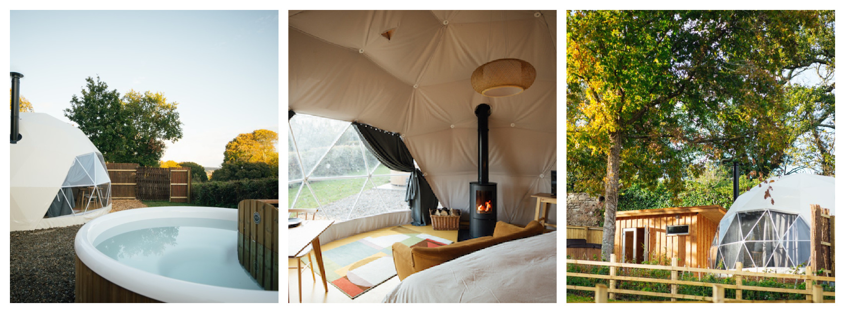 quirky glamping, dog friendly, hot tub